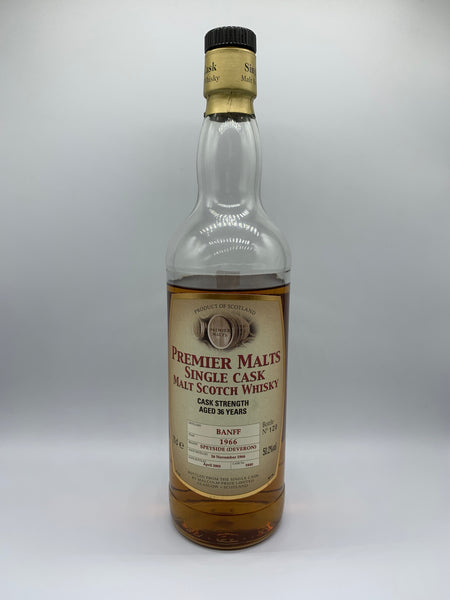 1 x 20ml sample of Banff 1966 Premier Malts 36 Years Old #3440, 50.2%