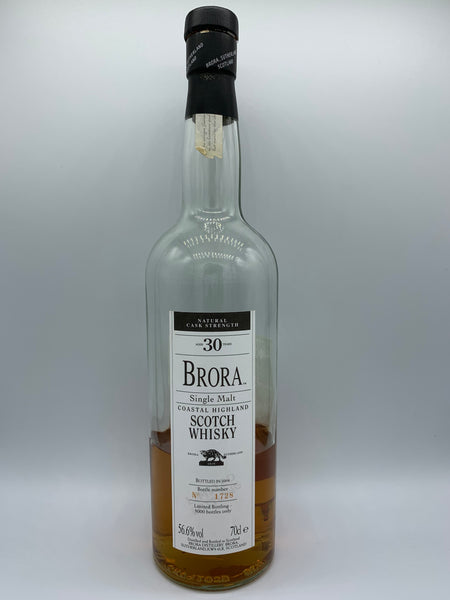 1 x 20ml sample of Brora 30 Years Old OB bottled 2004, 56.6%