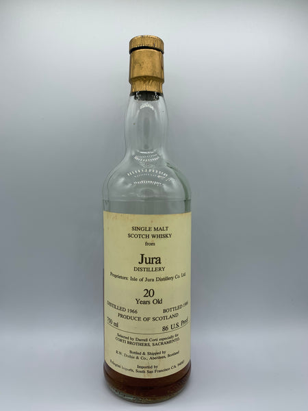 1 x 20ml sample of Jura 1966 Corti Brothers 20 Years Old, 86 US proof