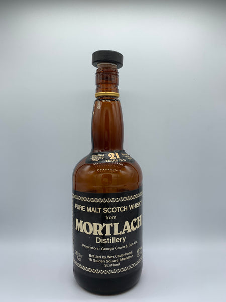 1 x 20ml sample of Mortlach 1957 Cadenhead dumpy 21 Years Old, 80 proof