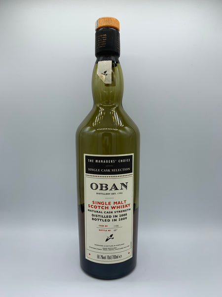 1 x 20ml sample of Oban 2000 OB Manager's Choice #1186, 58.7%