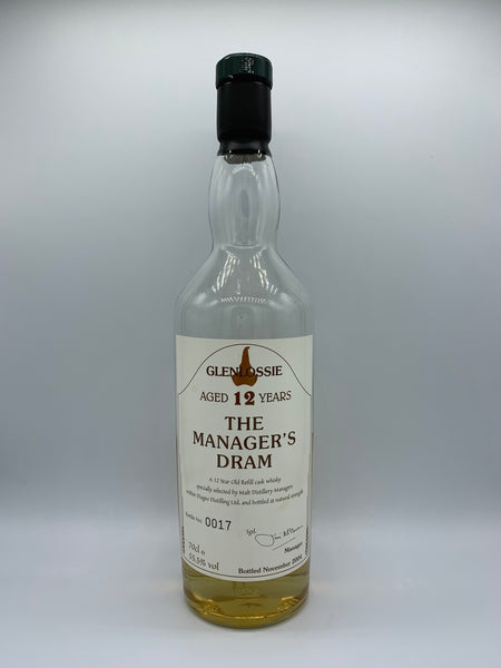 1 x 20ml sample of Glenlossie OB Manager's Dram 12 Years Old bottled 2004, 55.5%