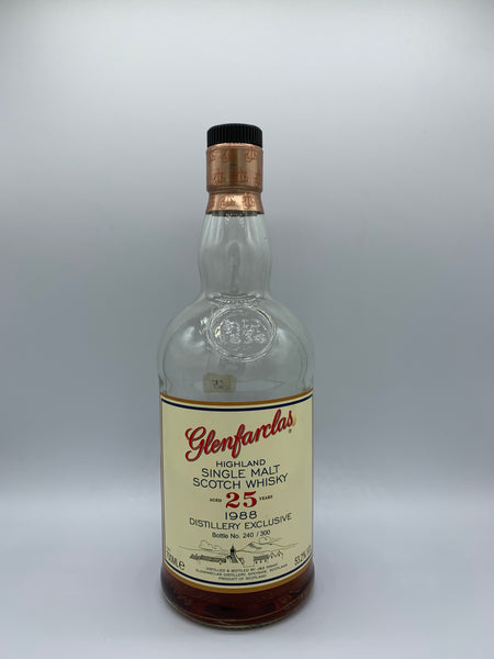 1 x 20ml sample of Glenfarclas 1988 OB Distillery Exclusive 25 Years Old, 53.2%
