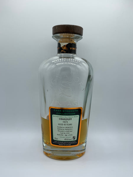 1 x 20ml sample of Craigduff 1973 Signatory Vintage 40 Years Old #2516, 49.6%