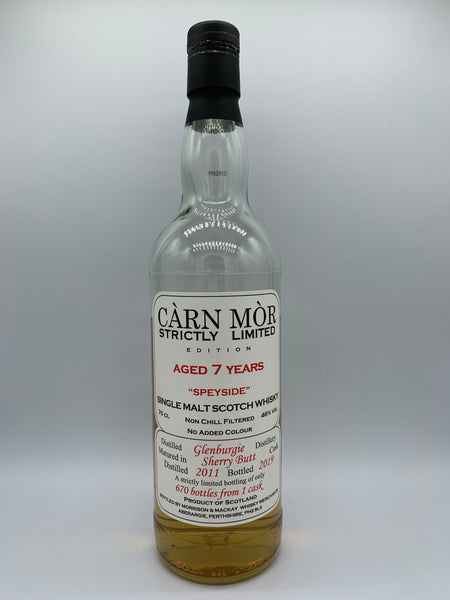 1 x 20ml sample of Glenburgie 2011 Carn Mor Strictly Limited 7 Years Old, 46%