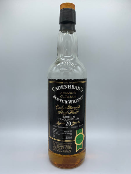 1 x 20ml sample of Tormore 1984 Cadenhead's Authentic Collection 20 Years Old, 60.4%
