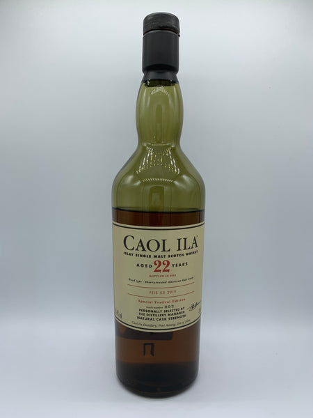 1 x 20ml sample of Caol Ila OB 22 Years Old bottled for Feis Ile 2019, 58.4%