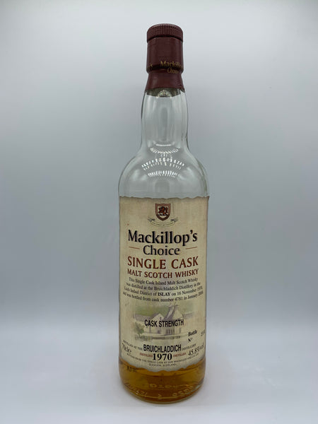1 x 20ml sample of Bruichladdich 1970 Mackillop's Choice #4781, 45.8%