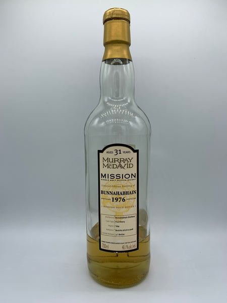 1 x 20ml sample of Bunnahabhain 1976 Murray Mcdavid Mission 31 Years Old fino sherry, 48.1%