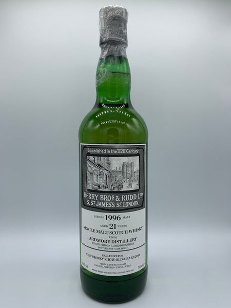 Ardmore 1996 Berry Bros & Rudd 21 Years Old bottled for The Whisky Show Old & Rare 2018 #149017, 60.1%