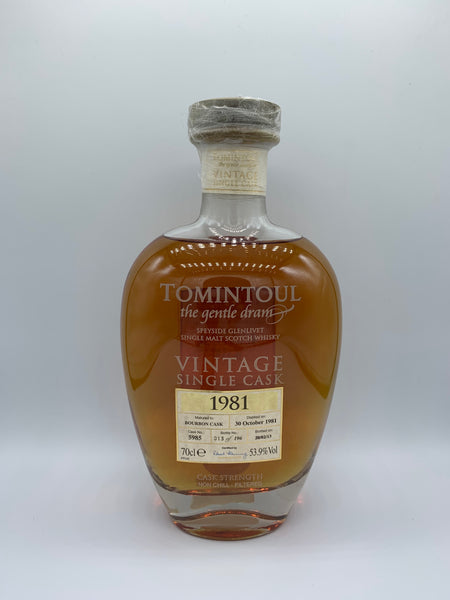 Tomintoul 1981 OB The Gentle Dram #5985, 53.9%