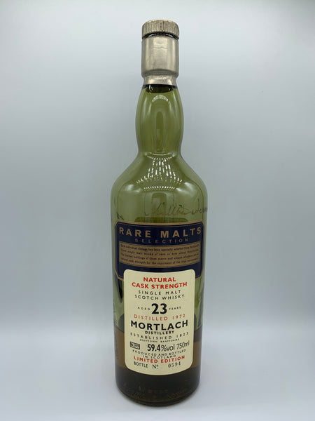 1 x 20ml sample of Mortlach 1972 OB Rare Malts B297 South African Import 23 Years Old, 59.4%