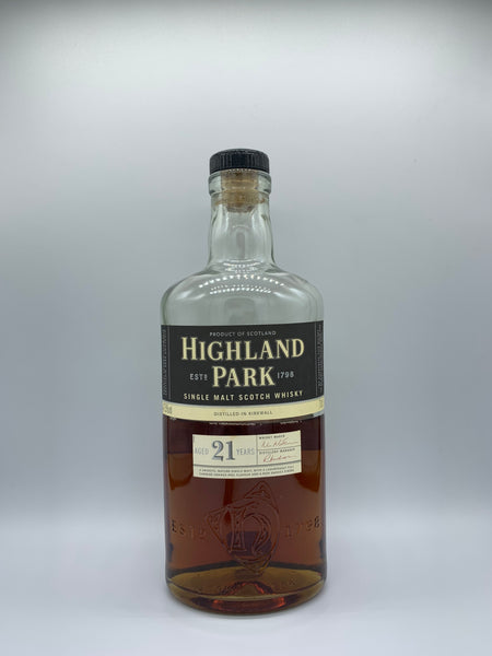 1 x 20ml sample of Highland Park 21 Years Old OB, 47.5%
