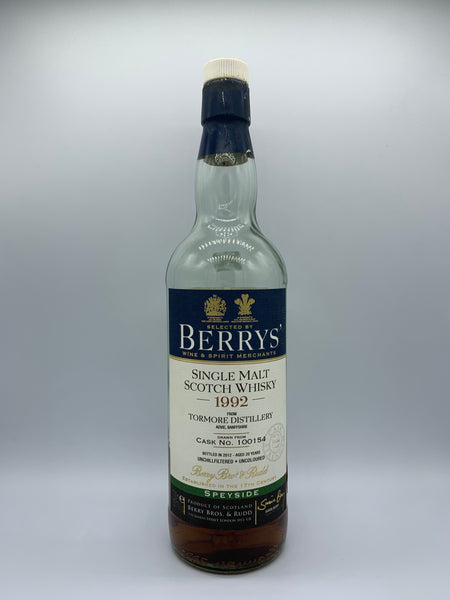 1 x 20ml sample of Tormore 1992 Berry Bros #100154, 55.7%