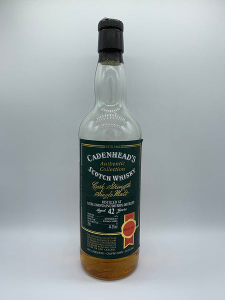 1 x 20ml sample of Loch Lomond (Inchmurrin) 1974 Cadenhead's Authentic Collection 42 Years Old, 44.3%