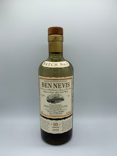 1 x 20ml sample of Ben Nevis 2008 OB 10 Years Old Batch No. 1, 62.4%