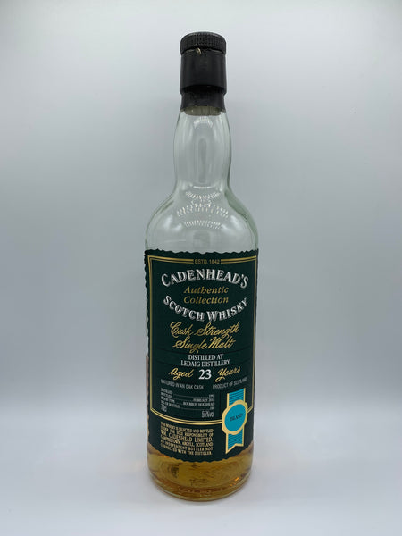 1 x 20ml sample of Ledaig 1992 Cadenhead's Authentic Collection 23 Years Old, 55%