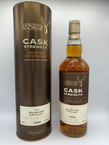 Balblair 1986 Gordon Macphail Cask Strength #12649 for Whisky Show Old & Rare 2017, 49.5%