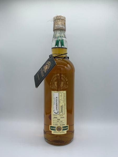 Caperdonich 1972 Duncan Taylor Rare Auld 36 Years Old #7449, 47.8%