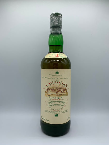 Lagavulin 12 Years Old OB White Horse Distillers green bottle French Import (SD 522), 43%