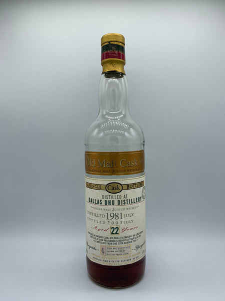 1 x 20ml sample of Dallas Dhu 1981 Douglas Laing Old Malt Cask 22 Years Old #730, 50%