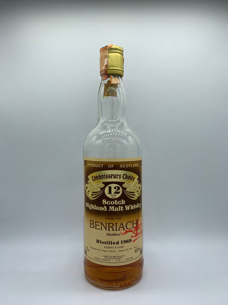 1 x 20ml sample of Benriach 1969 Gordon Macphail Connoisseurs Choice Old Brown Label 12 Years Old, 40%