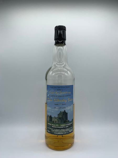 1 x 20ml sample of Caol Ila 1991 bottled for The Whisky Fair Limburg 13 Years Old #4734, 54.2%
