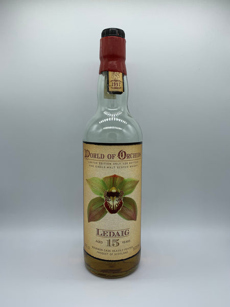 1 x 20ml sample of Ledaig 1997 World of Orchids Jack Wiebers 15 Years Old, 57.5%