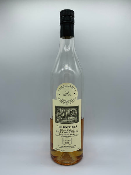 1 x 20ml sample of Port Charlotte 2001 The Bottlers 13 Years Old #1031, 63.5%