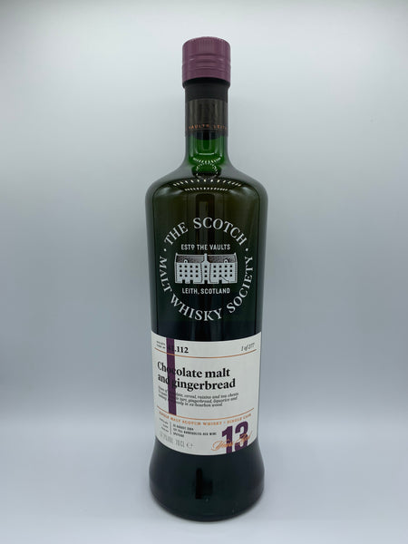 SMWS 41.112 (Dailuaine) Chocolate Malt and Ginger Bread, 57.7%