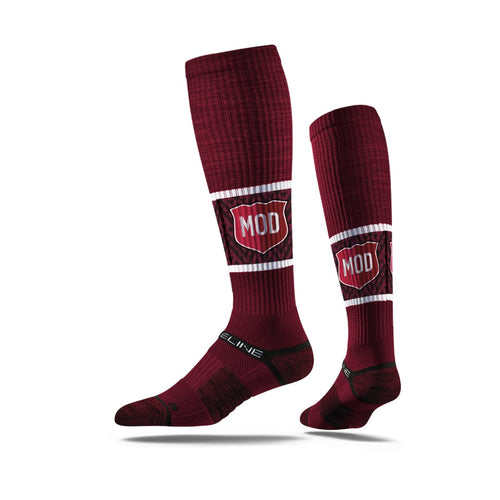 maroon,knee high