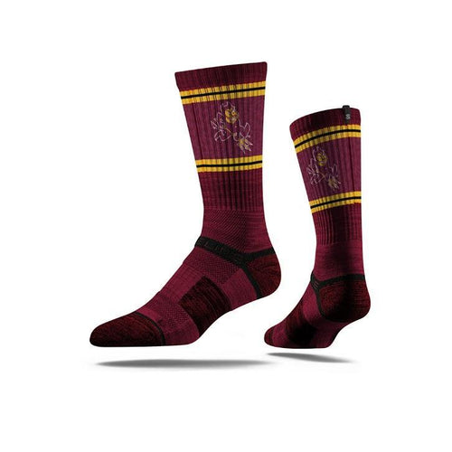 Arizona State Sun Devil Maroon Crew Socks N012404