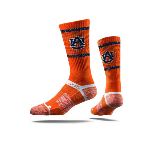 Auburn University Tigers Orange Crew Socks N19573