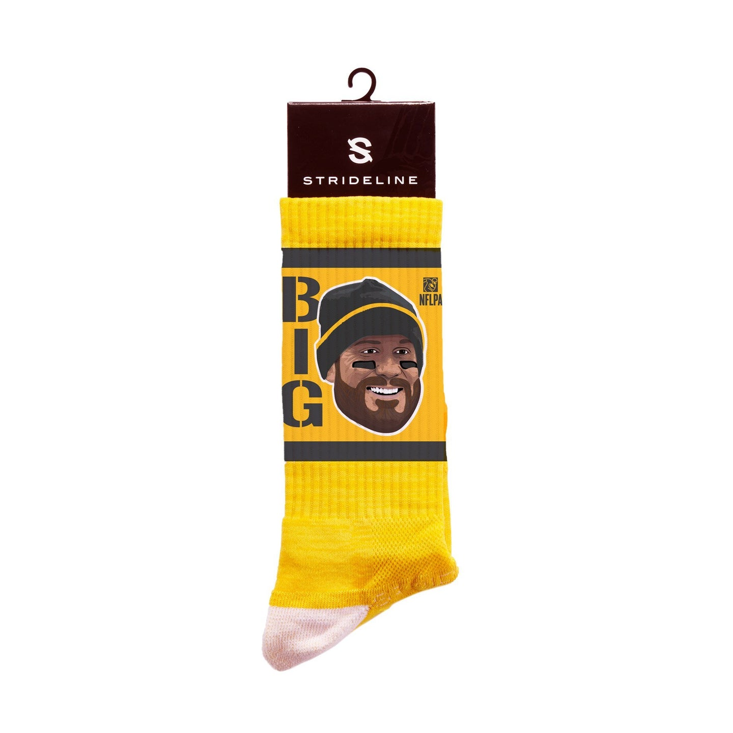 Ben Roethlisberger Game Face Yellow Crew Socks N22630