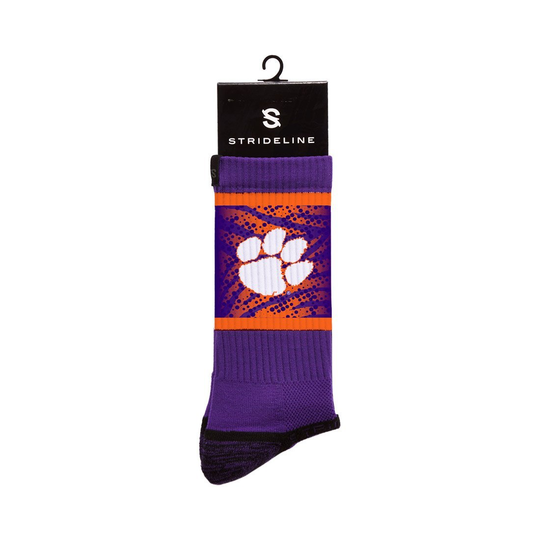 Clemson Tigers Stripes Regalia Crew Socks C127488