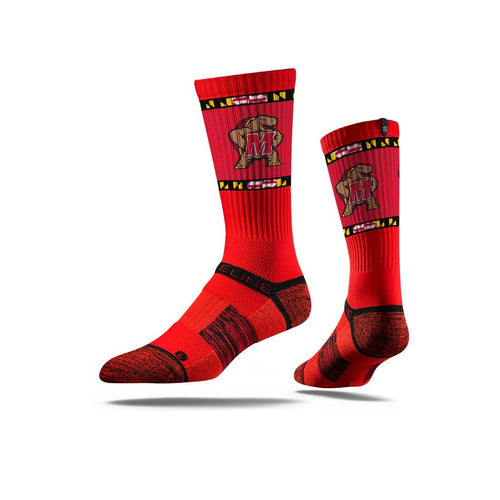 Maryland Terp Red Shell Crew Socks N013223