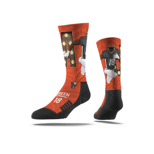 AJ Green Orange Premium Full Sub Socks N00442997ML