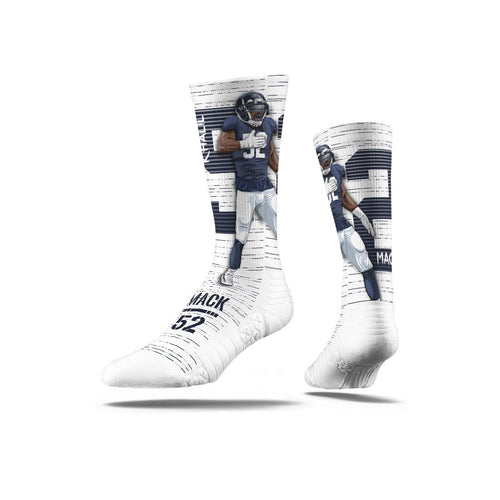Khalil Mack Action White Premium Full Sub Socks N00849014ML