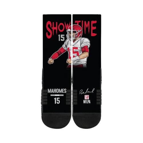 Patrick Mahomes Showtime Black Premium Full Sub Socks N00856365ML