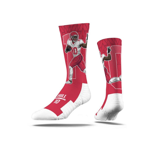 Tyreek Hill Peace Oht Red Premium Full Sub Sock N00436812ML