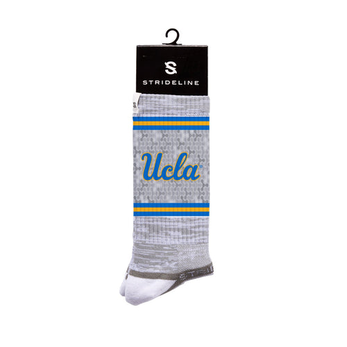 UCLA Bruins Tri Camo Grey Crew Socks N19240