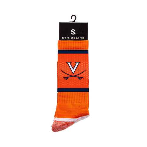 Virginia Cavaliers Orange Crew Socks N013239