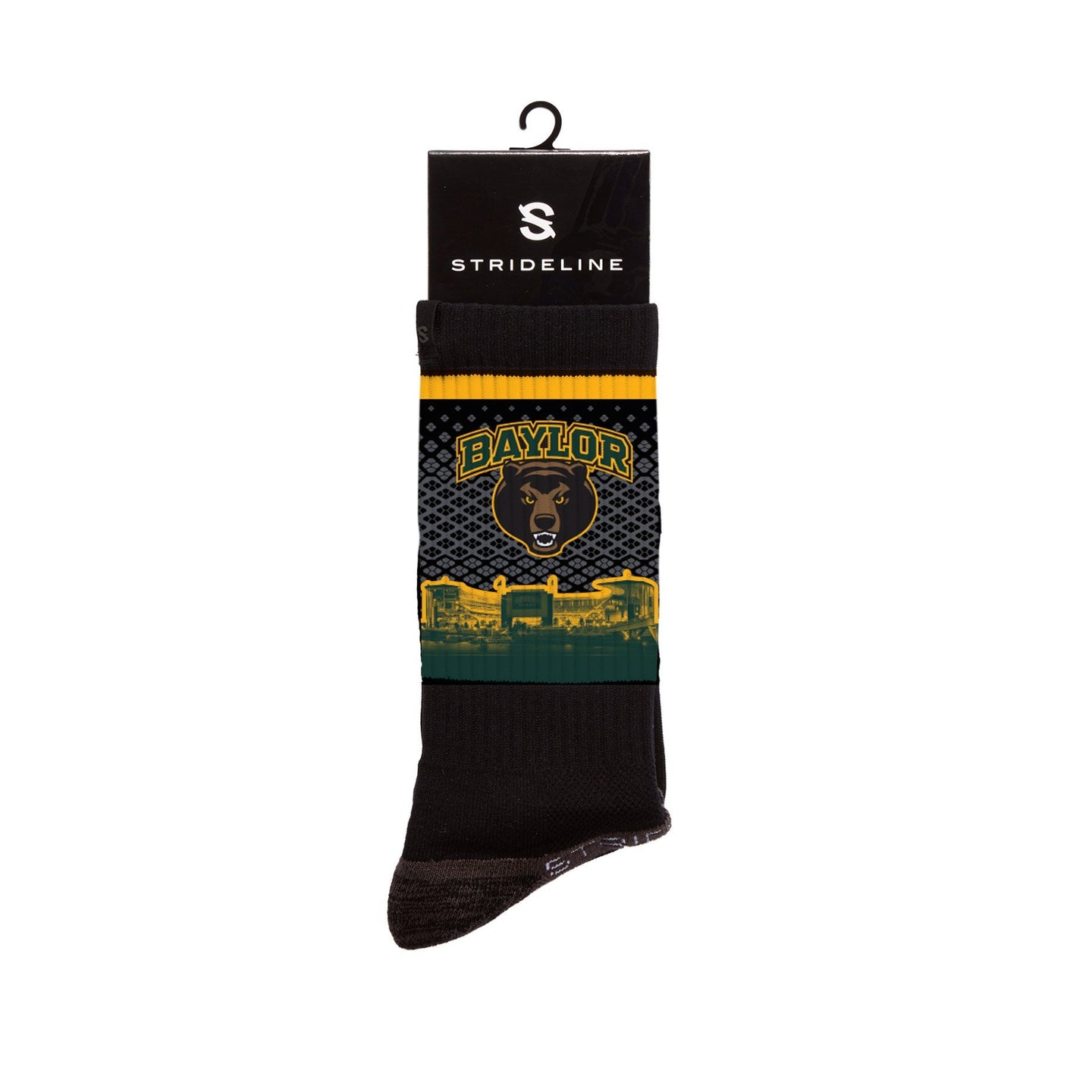 Baylor University Bears Stadium Crew Black Socks C127148
