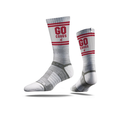 Washington State Go Cougs Grey Crew Socks C130728