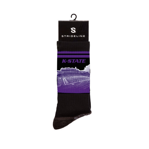 Kansas State Stadium Black Crew Socks C128288