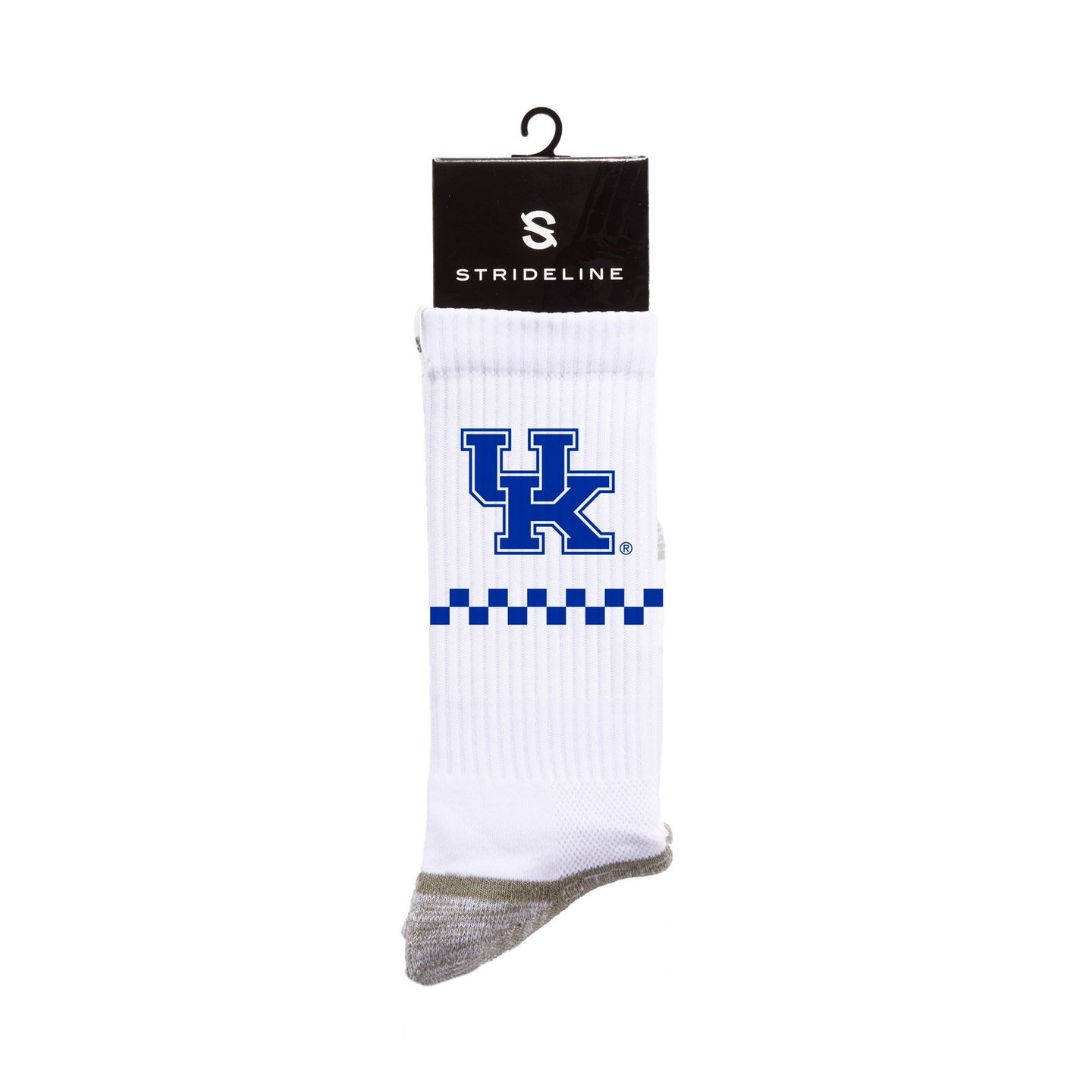 Kentucky Wildcats Checker White Crew Socks C137251