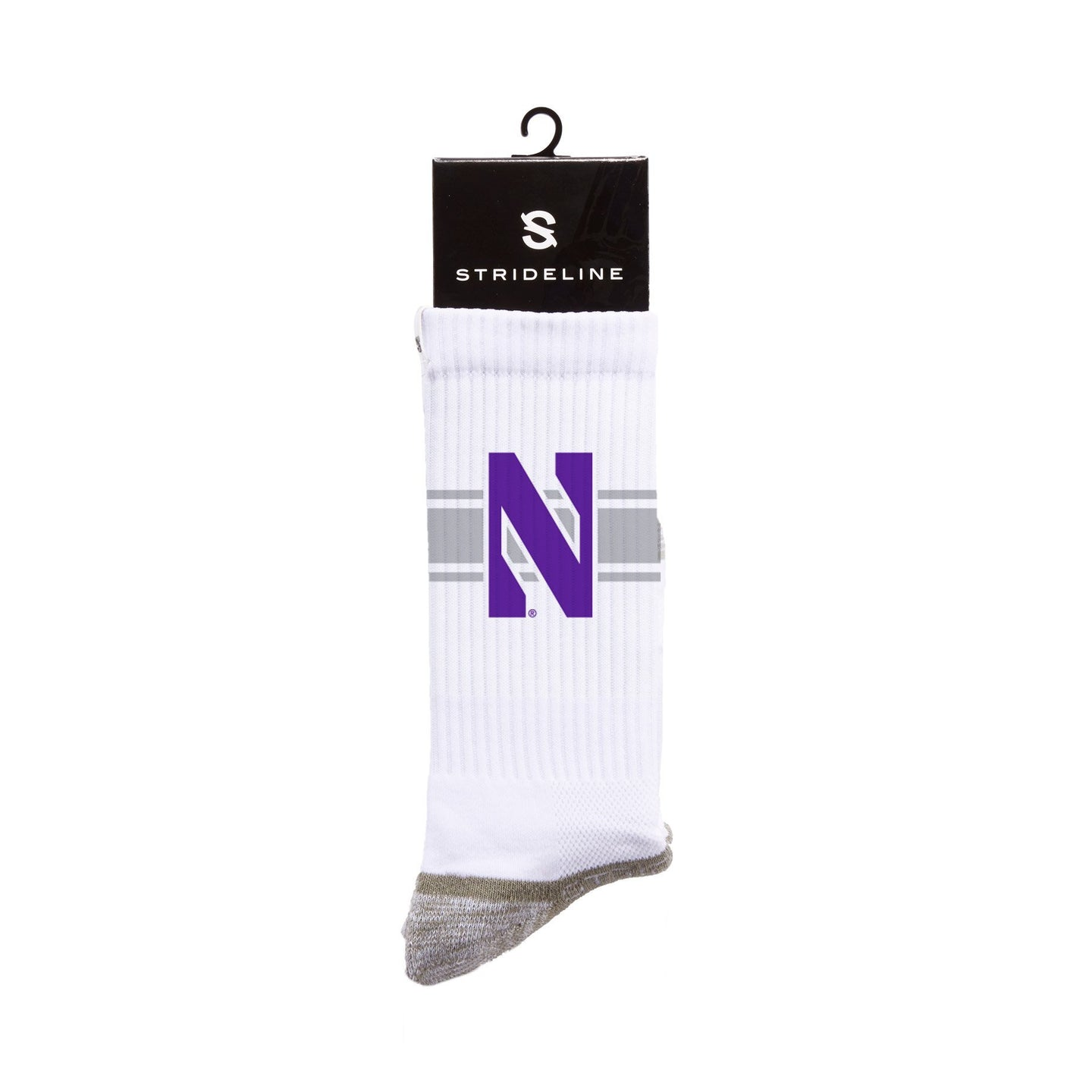 Northwestern N White Crew Socks C129288