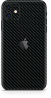Apple iPhone 11 black carbon fiber SKIN and WRAP. skinz