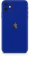 Apple iPhone 11 blue carbon fiber SKIN and WRAP. skinz