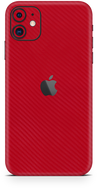 Apple iPhone 11 red carbon fiber SKIN and WRAP. skinz